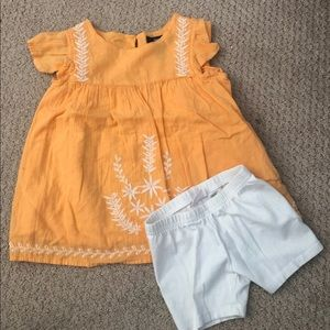 Other - Super cute orange 4T and white shorts 3t